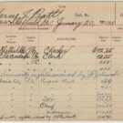 Pennsylvania Railroad System Employee Record Cards, Heavy Paper, Pair c.1899