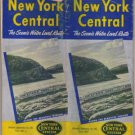 New York Central Railroad Timetable Map, Yellow & Blue Cover c.1951