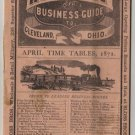 Patterson's Railway Timetable & Business Guide, Cleveland Ohio c.1870