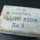 A.W. Faber Office Supplies, Elastic Bands Box & Eraser c.1870