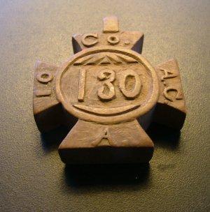 Civil War Camp Art Watch Fob, Carved Wood Maltese Cross, Johnson's Island Ohio c.1863