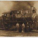 Hocking Valley Railway Postcard, Engine #122 & Crew c.1880