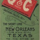 Queen & Crescent Cincinnati Southern Pacific Railway, New Orleans & Texas Timetable c.1890