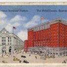 Boston Massachusetts Postcard, South Station and Dewey Square c.1940