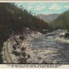 South Carolina Postcard, Clinchfield Route on The Nolichucky River, The Blue Ridge Mountains c.1923