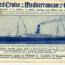 Travel Brochure for Mediterranean & The Orient Cruise c.1899