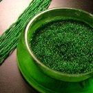 Emerald Green Glass Beads, Seed, Original Twist Clasp c.1940