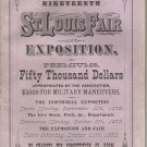 St. Louis State Fair & Exposition Premium List Book c.1879