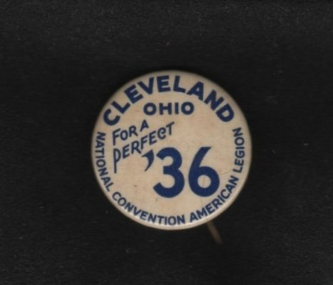 American Legion Cleveland Ohio Convention Pinback Button, Whitehead & Hoag c.1936