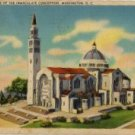 Washington D.C. Postcard, National Shrine of the Immaculate Conception c.1941
