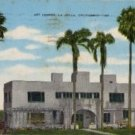 La Jolle California Postcard, Art Center Building and Grounds c.1949