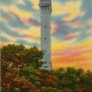 Provincetown Massachusetts Postcard, Pilgrim Memorial Monument, Town Hill c.1953