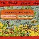 Pennsylvania Turnpike Postcard, World's Greatest Highway, Howard Johnson's, Full Color c.1951