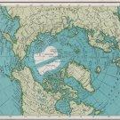 Polar Regions Map, Rand McNally Collier's World Atlas c.1949