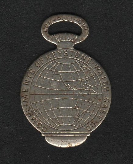 Keystone Watch Case Co. Fob Giveaway, World's Columbian Exposition, Chicago c.1893