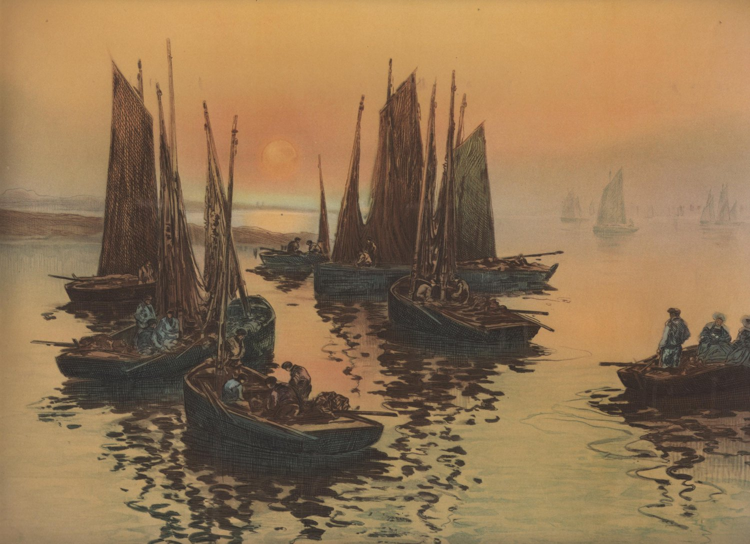 Glory of The Morning, T. Le Gout-Gerard Etching, Pictorial Review Print, Color c.1926