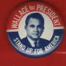 Wallace for President Button, Stand Up For America, Red, White and Blue c.1968