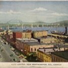 New Westminster B.C. Canada Postcard, View of City Center c.1929