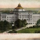 Washington D.C. Postcard, Congressional Library and Grounds, Full Color c.1909