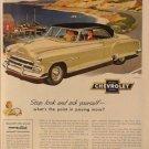 Chevrolet Auto Ad, Car on Coastal Road, Full Color c.1951