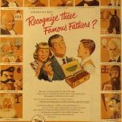 Cigar Ad with Famous Father's Day Quiz, Full Color c.1951