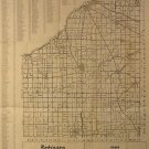 Map of Wood County Ohio, Robinson Directories Inc., Hillsdale Michigan, 19 x 24 c.1964