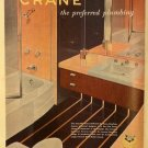 Crane Plumbing Co. Ad, Classic Bathroom, Full Color c.1951