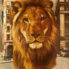Dreyfus Fund Ad, Lion on NYC Street, Color c.1951