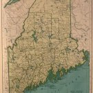 Map of Maine, Rand McNally for Collier's World Atlas c.1949