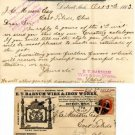 E.T. Barnum Wire & Iron Works Sales Letter with Envelope, Detroit MI c.1883