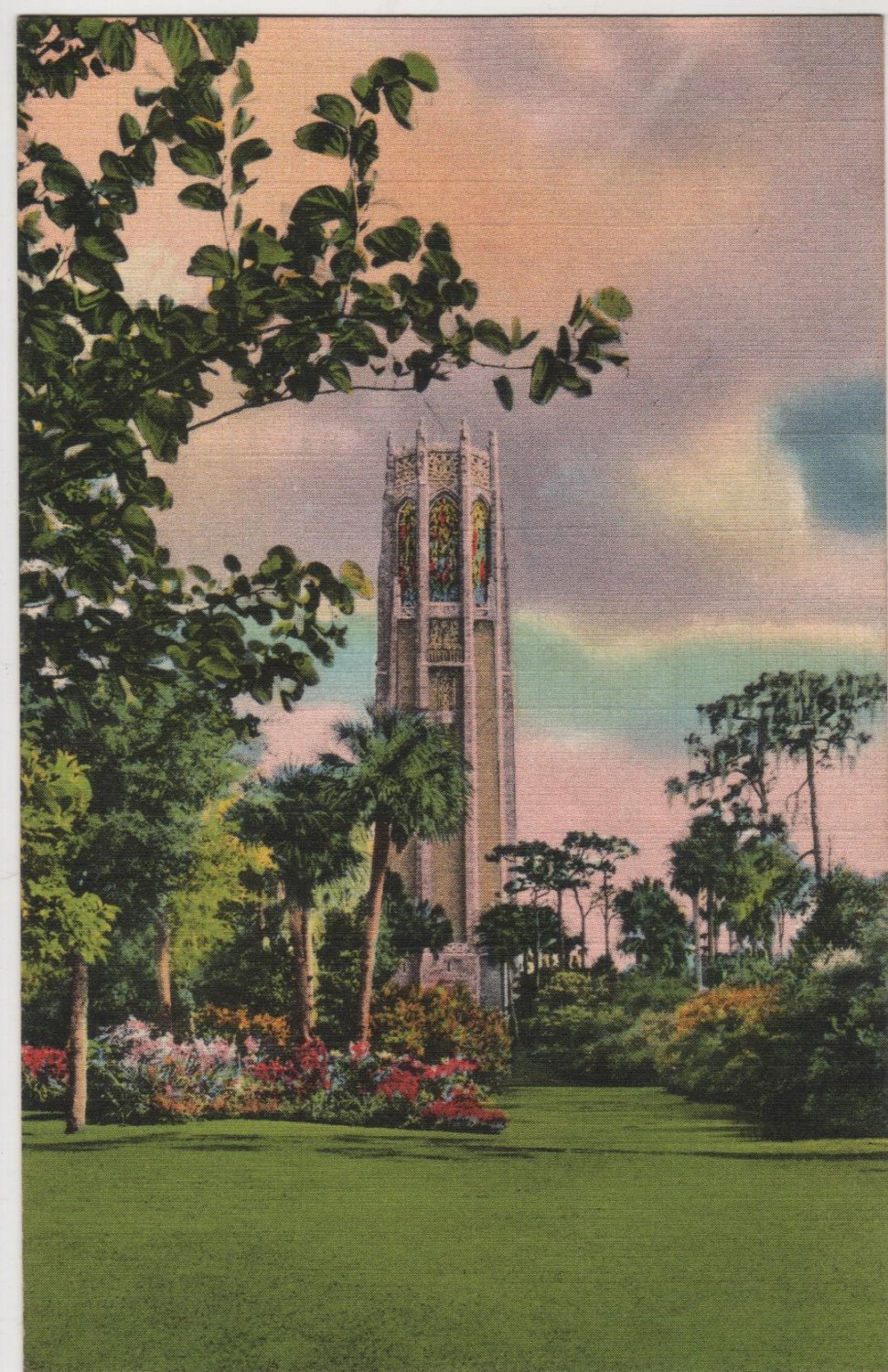 Lake Wales Florida Postcard, The Magnificent Singing Tower c.1935