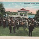 Orlando Florida Postcard, Band Concert on Lake Eola, Full Color  c.1930