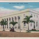 Fort Myers Florida Card, Post Office Building and Grounds, Full Color c.1930