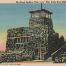Black Hills South Dakota Postcard, Mount Coolidge Observatory, State Park c.1944