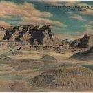 South Dakota Postcard, Dante's Inferno, Badlands National Monument, Full Color c.1939