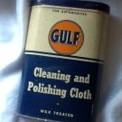 Gulf Cleaning & Polishing Cloth in Lidded Tin, For Automobiles & Furniture c.1940