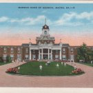 Macon Georgia Postcard, Masonic Home, Full Color c.1939