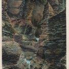 Watkins Glen New York Postcard, Minnehaha Gorge, Full Color c.1937