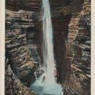 Watkins Glen New York Postcard, Cavern Cascade, Full Color c.1937