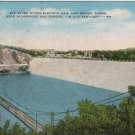 Kentucky Postcard, Dix River Hyrdo-Electric Dam and Intake Tower, Full Color c.1947