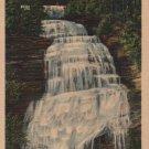 New York Landscape Postcard, Chequaga Falls at Montour Falls, Full Color c.1936