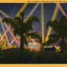 Hollywood California Postcard, Night Time Movie Premiere, Full Color c.1931