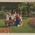Holland Michigan Postcard, Tulip Time with Children in Dutch Costumes, Full Color c.1935
