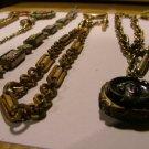 Watch Chain  T-Bar & Carnelian Intaglio Fob c.1890