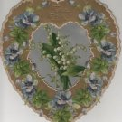 Valentines Day Card, Bouquet of Wildflowers and Leaves, Embossed c.1890