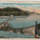 Cincinnati Ohio Postcard, Reservoir at Eden Park, Full Color c.1930