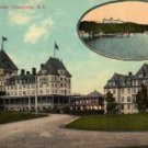 Lake Champlain New York Card, The Hotel Champlain at Bluff Point, Full Color c.1922