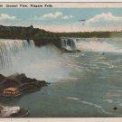 Niagara Falls New York Postcard, General View of The Falls, Full Color c.1921