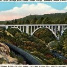 North Carolina Card, High Bridge, Green River Gorge, Full Color c.1930