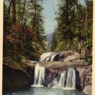 Lake Lure North Carolina Postcard, Bottomless Pools, Full Color c.1930